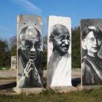 Berlin Wall Peace Nobel Prize serial, Teltow Stadt. Germany