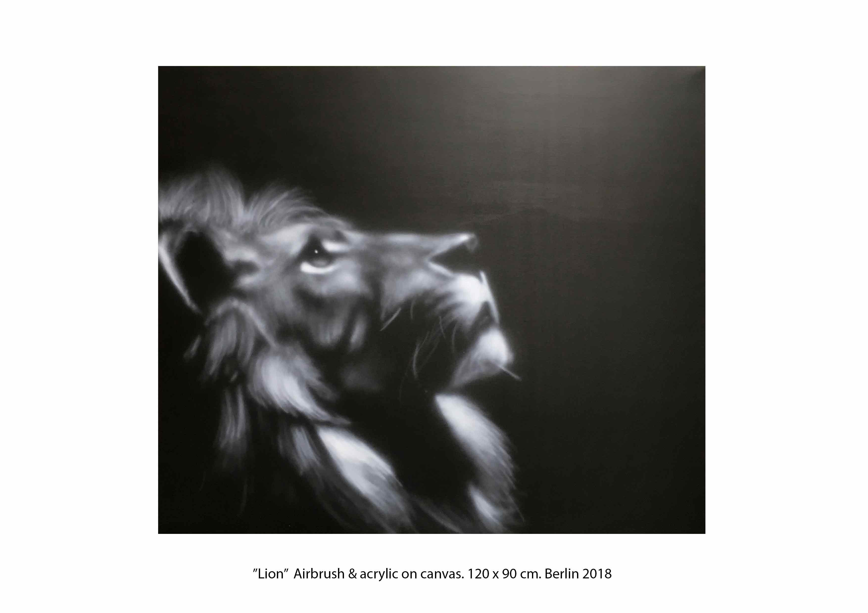 Lion airbrush Victor Landeta